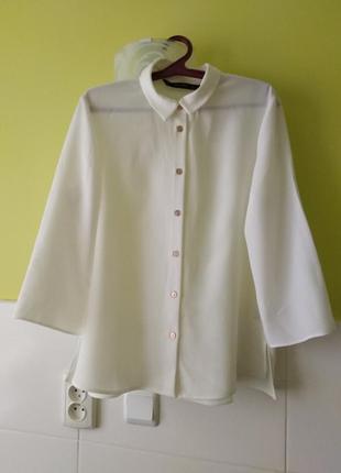 Рубашка блуза из плотного полиэстера zara