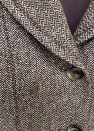 Пиджак от gerry weber шерстяной шерсть 42% принт елочка