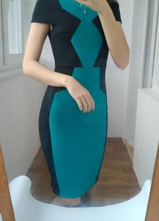 Платье миди облегающее с открытой спинкой miss selfridge