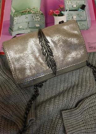 Женская сумочка с длинной ручкой zara