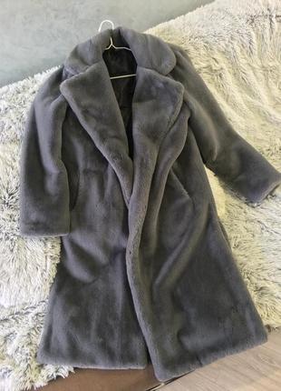 Шуба искусственная эко мех кролик рекс пальто шубка