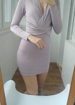Платье облегающее вечернее короткое с чокером miss selfridge