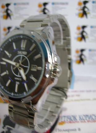 Мужские наручные часы skmei 9118 с датой на браслете