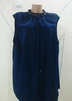 Блуза с камушками большой размер