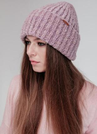 Тёплая шапочка букле
