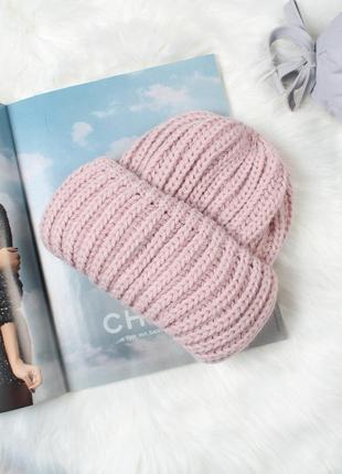 Идеальная розовая шапочка на осень!