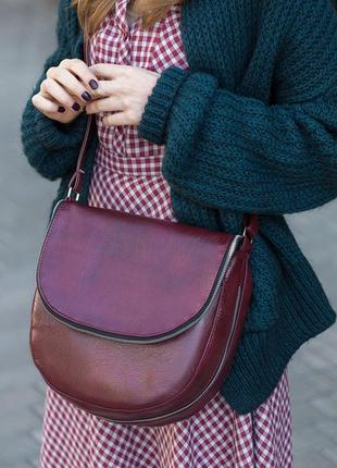 Бордовая сумка через плечо