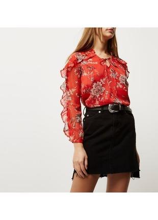 1+1=3 шикарная блуза с рюшами воланами