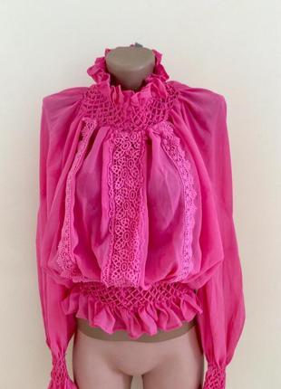 Шикарная блуза цвета фуксии asos