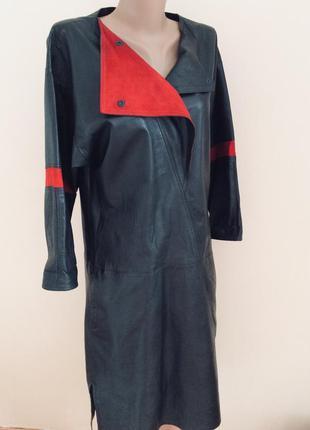 Стильное эксклюзивное кожаное платье ( мягчайшая кожа лайка)
