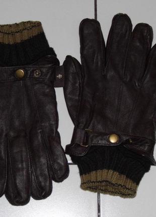 Зимние перчатки -кожа - лайка -  manbag - 9.5 - 3xl -24 см. - оригинал!!!