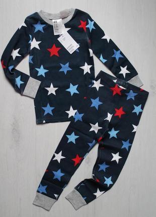 Пижама с яркими звездами h&m на 2-4 и 4-6 лет