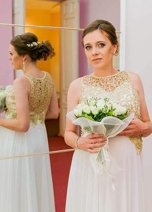 Свадебное платье 48р