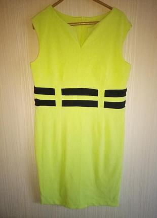 Яркое платье миди 54 размера