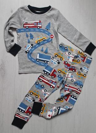 Пижама с транспортом h&m на 2-4 и 4-6 лет