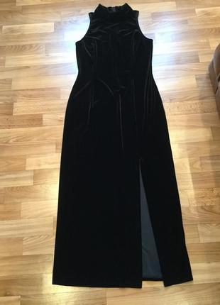 Вечернее бархатное платье/ велюровое/ длинное