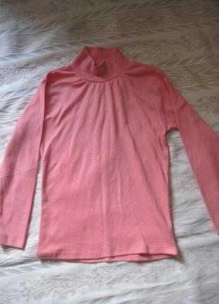 Розовый гольф для девочки 7 лет