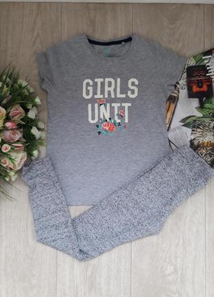 Комплект футболка и лосины 7-8 лет h&m