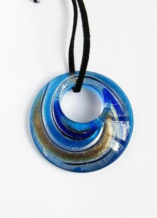 Красивая подвеска - стеклянный кулон из муранского стекла, новая! арт.9970