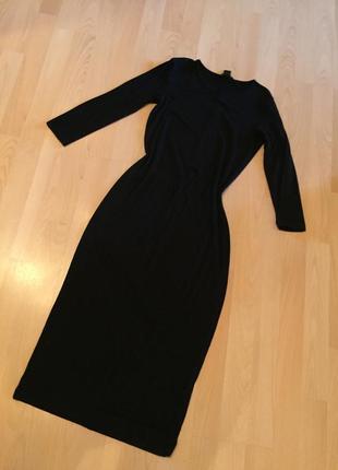 Платье черное миди