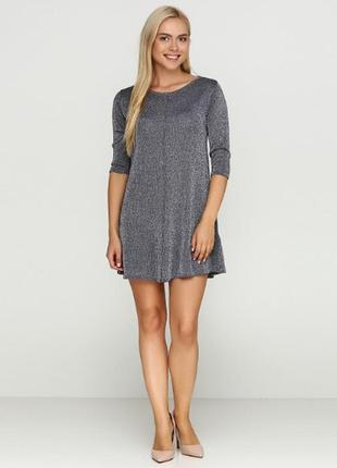 Люрексовое платье esmara, s размер.