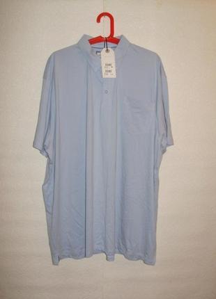 Новая футболка-поло небесного цвета на крупного мужчину 4xl next