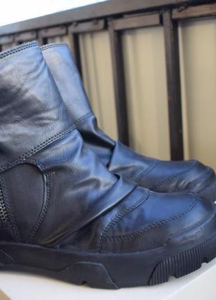 Кожаные итальянские ботинки ручная рбота р.40 26 см made in italy