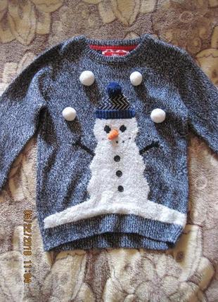 Крутой свитер со снеговичком  всего за 100 гривен!!!