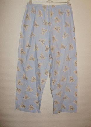 Хлопковые штанишки для сна с мишкой тедди/пижама/батал/16/50 размера m&s