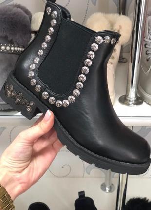 Ботинки на низком