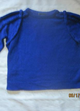Шикарный свитер цвета индиго, украшенный косами monki