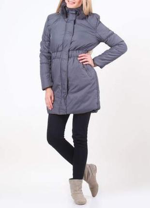 Шикарная куртка пальто с натуральным меховым воротником madoc