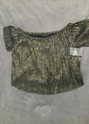 Нарядная блуза открытые плечи zara collection
