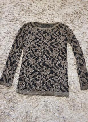 Италия свитер ажурный оригинал шерсть