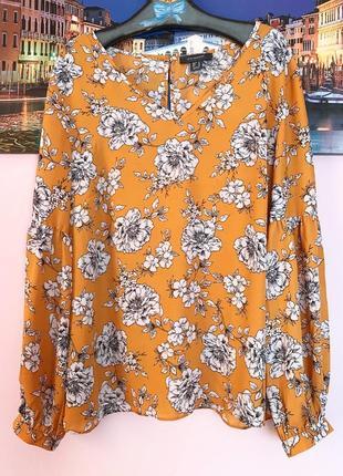 Шикарная цветочная блуза, блуза в цветы