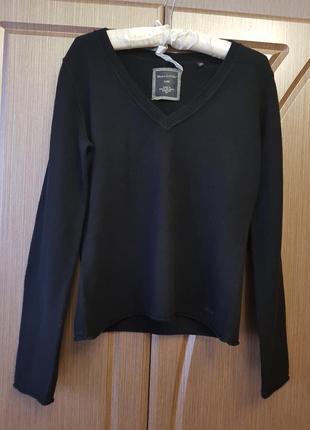 Базовый черный джемпер шерсть кашемир