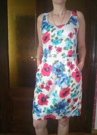 Платье с принтом. летнее.