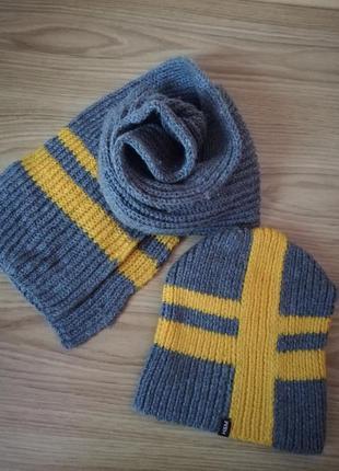Набор шапка шарф зимние
