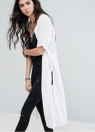 Удлиненная рубашка-накидка