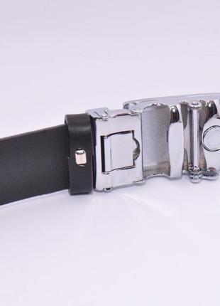 Кожаный ремень автомат мужской 8006-308-g черный, коричневый, темно-синий3
