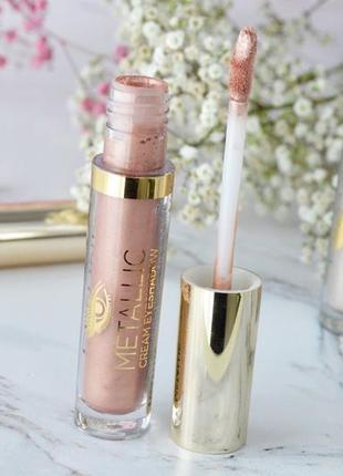 Жидкие металл тени metallic cream #03 pink