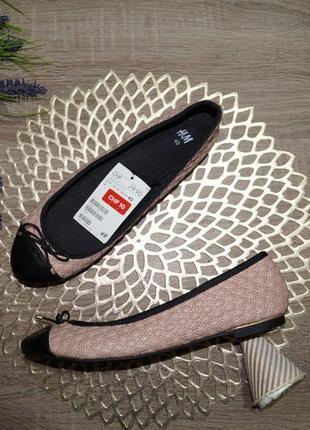 (40/26см) h&m! стильные фирменные туфли, балетки