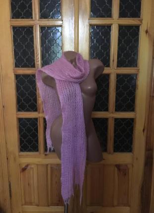 #шарф из #мохера, #шарф длинный.