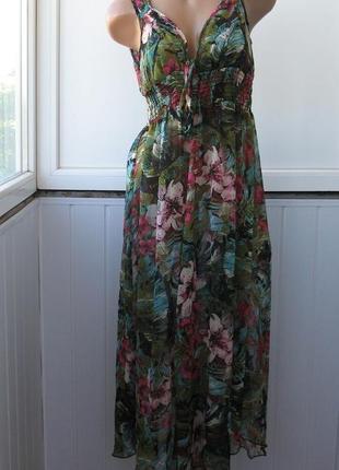 Пляжное шифоновое платье, парео, накидка