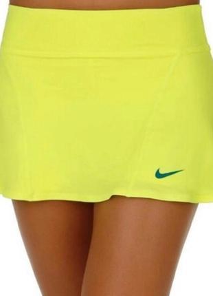 Бомбезная спортивная юбка шрты от. nike dri-fit, p. s