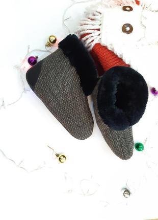 Бурки,обувь,теплые тапочки,ручная работа,комнатные сапожки,комнатные тапочки, 39 размер
