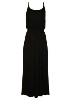 Длинное расклешенное платье сарафан в пол вискоза