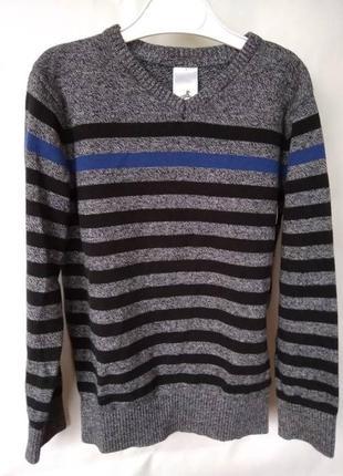 Фирменный полосатый свитер palomino 128 cм