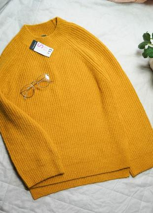 Горчичный свитер primark