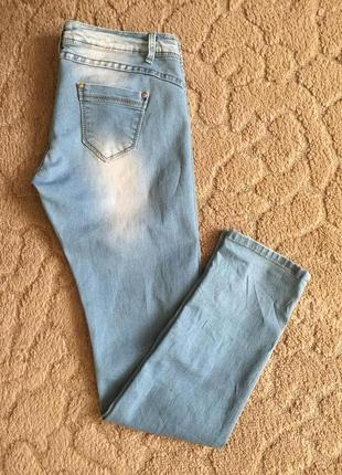 Супер джинсы-джеггинсы жен стреч с потёртостью l-xl(40)